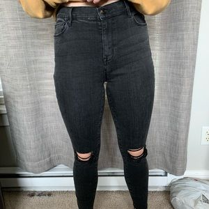 PacSun black high wasted slim jeans size 28